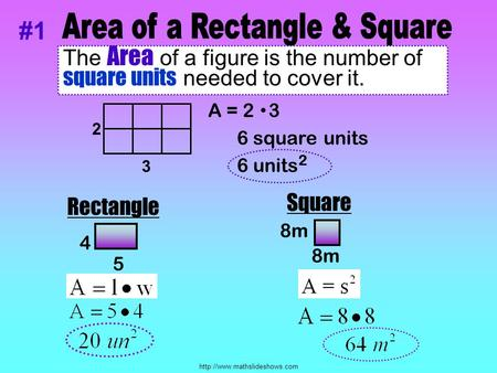 Area of a Rectangle & Square