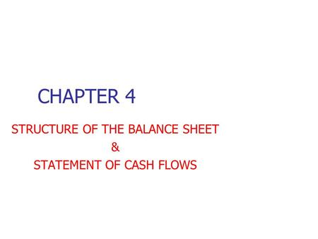 Wiley - Chapter 5: Balance Sheet and Statement of Cash Flows