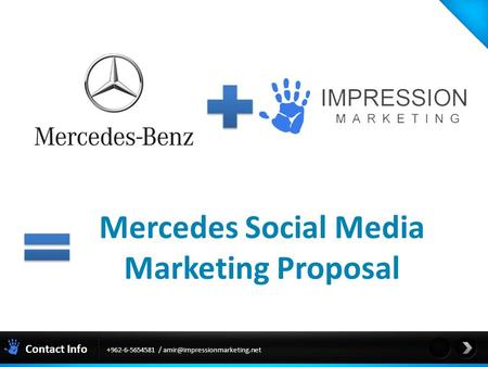 Mercedes Social Media Marketing Proposal Contact Info +962-6-5654581 /