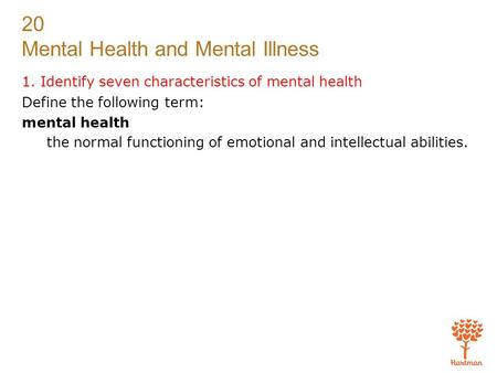 characteristics of mental illness pdf
