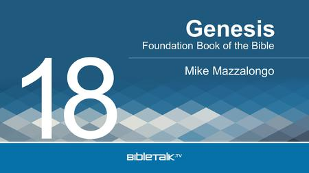 Foundation Book of the Bible Mike Mazzalongo Genesis 1 8.
