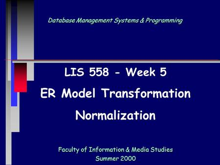 Database Management Systems & Programming