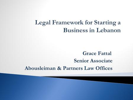 Grace Fattal Senior Associate Abousleiman & Partners Law Offices.