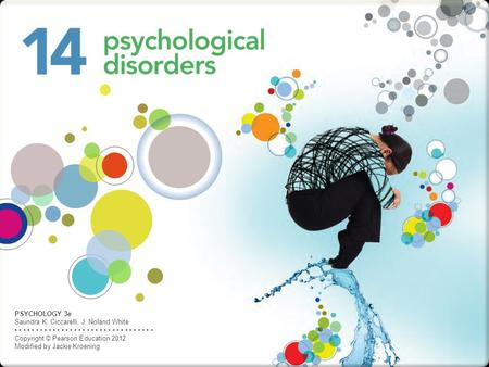 PSYCHOLOGY 3e Saundra K. Ciccarelli, J. Noland White Copyright © Pearson Education 2012 Modified by Jackie Kroening.