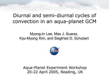 Diurnal and semi-diurnal cycles of convection in an aqua-planet GCM