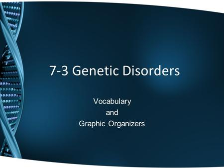 Vocabulary and Graphic Organizers