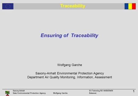 Ensuring of Traceability