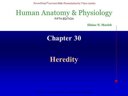 Chapter 30 Heredity.