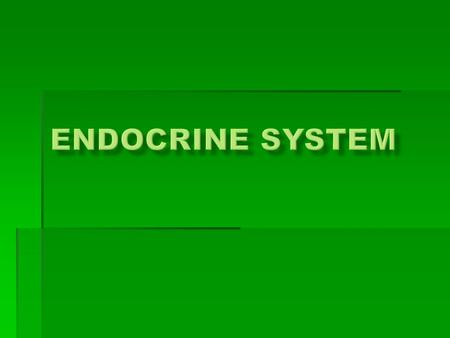  Chemical Regulation  Stimuli  Glands  Secrete Hormones  Response Function of the Endocrine System….