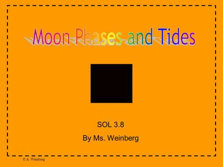 © A. Weinberg SOL 3.8 By Ms. Weinberg. © A. Weinberg When you look up in our night sky, you will see the moon! The way that the moon looks changes during.