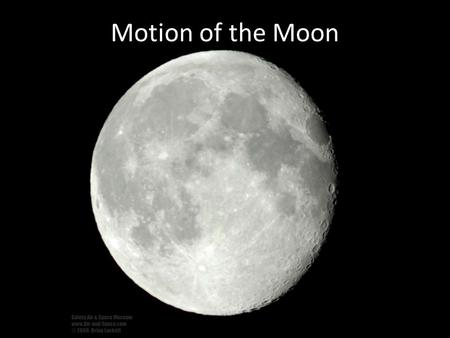Motion of the Moon.