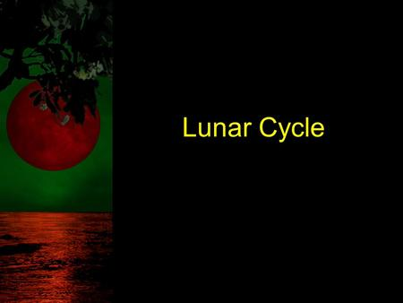 Lunar Cycle. TAKS Objective 5 The student will demonstrate an understanding of Earth and Space systems.
