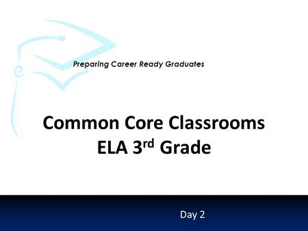 Preparing Career Ready Graduates Day 2 Common Core Classrooms ELA 3 rd Grade.