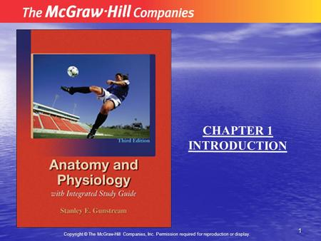 1 Copyright © The McGraw-Hill Companies, Inc. Permission required for reproduction or display. CHAPTER 1 INTRODUCTION.