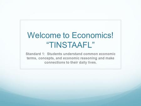 Economic terms and concepts