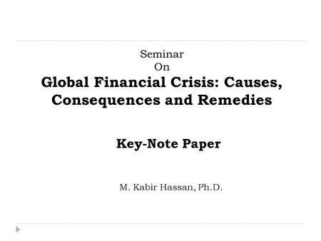 research paper global economic crisis