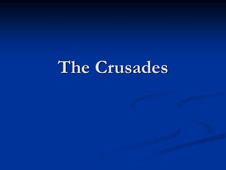 The Crusades. Crusades The Crusades were a series of battles between Christians and Muslims in the Middle East. The Crusades were a series of battles.