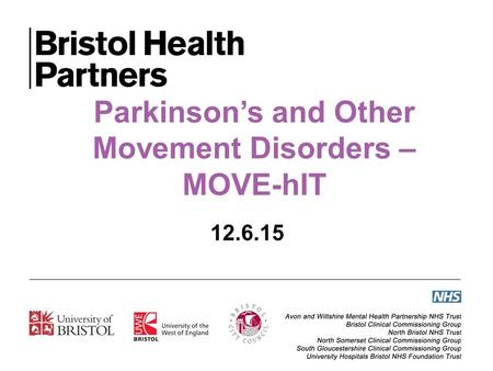 Parkinson's and Other Movement Disorders – MOVE-hIT 12.6.15.
