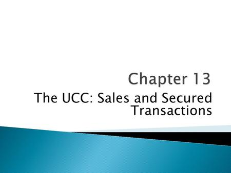 "The UCC: Sales and Secured Transactions. ""A commodity appears at first sight an extremely obvious, trivial thing. But its analysis brings out that it."