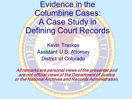 columbine case study Answer to case study 9: the shootings at the columbine high school: the law enforcement response read case study 9 and respond to.