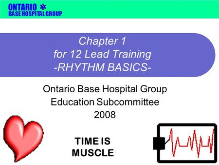 Chapter 1 for 12 Lead Training -RHYTHM BASICS-