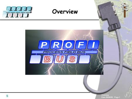 Overview Date 09/06/00, Page 1 Overview s. Date 09/06/00, Page 2 Overview s  PROFIBUS Expert Talk  Chapter 1 - Overview  Chapter 2 - Bus Physics &