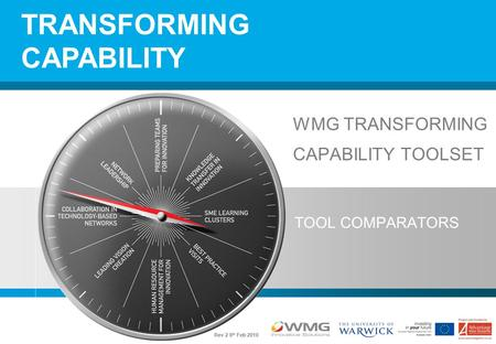 WMG TRANSFORMING CAPABILITY TOOLSET