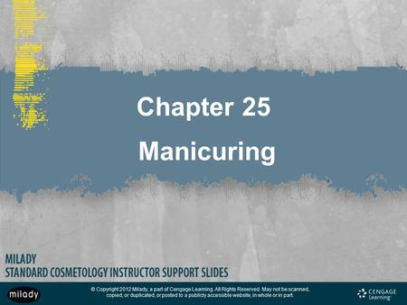 Chapter 25 Manicuring.