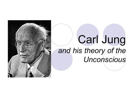 Carl Jung and his theory of the Unconscious. Jung's Life Born in Switzerland in 1875 – father a preacher Weak, tormented youth Studied under Freud and.