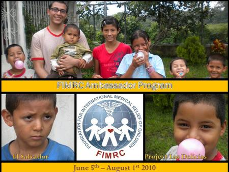 -FIMRC non-profit organization dedicated to improving pediatric and maternal health in the developing world -multidimensional strategy -Clinic sites in.