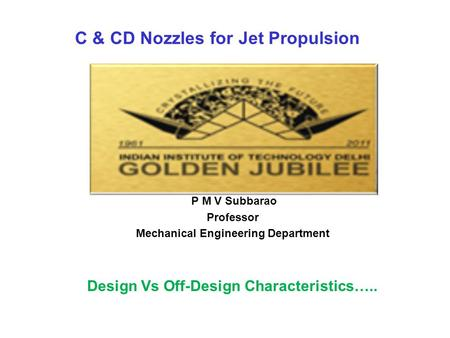 C & CD Nozzles for Jet Propulsion