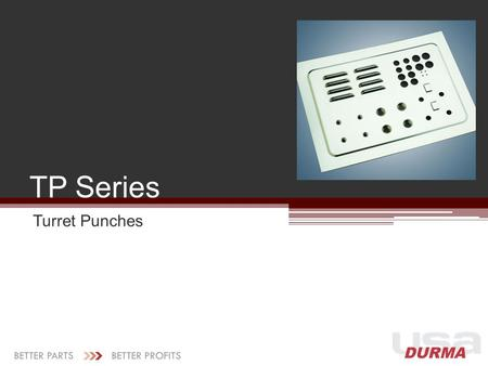 TP Series Turret Punches.