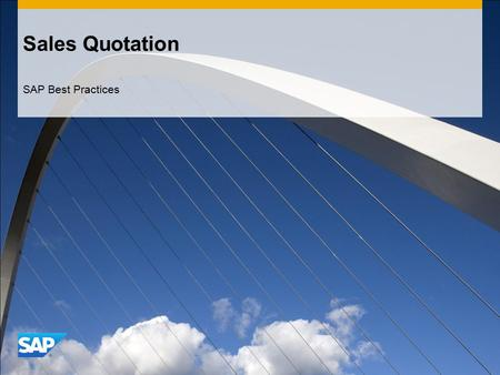 Sales Quotation SAP Best Practices.