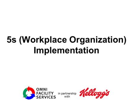 5s (Workplace Organization) Implementation