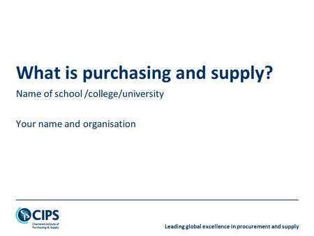 What is purchasing and supply?