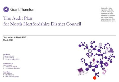 The Audit Plan for North Hertfordshire District Council