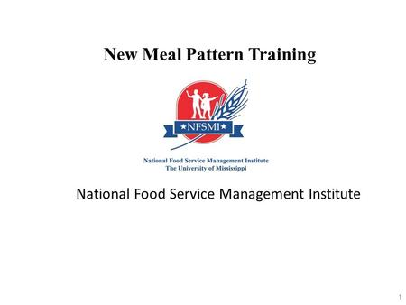 New Meal Pattern Training