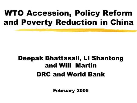 the impact of wto accession on