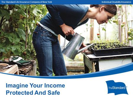 © 2010 Standard Insurance Company SNY 13604PPT (Rev 8/14) Imagine Your Income Protected And Safe The Standard Life Insurance Company of New York Individual.
