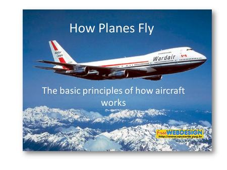 The basic principles of how aircraft works