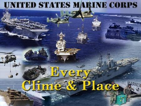 Agenda Background Title 10 and USMC Vision USMC Objectives Core Competencies Organization & Locations Marine Air Ground Task Forces (MAGTFs) and other.