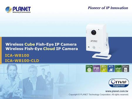 Wireless Cube Fish-Eye IP Camera Wireless Fish-Eye Cloud IP Camera ICA-W8100 ICA-W8100-CLD.