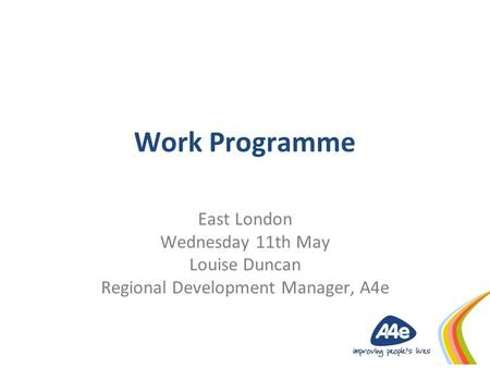 Regional Development Manager, A4e