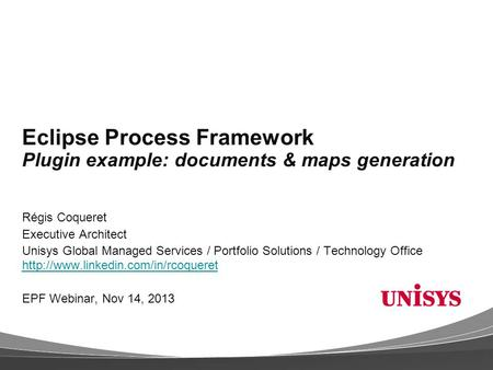 Eclipse Process Framework Plugin example: documents & maps generation