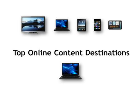 Top Online Content Destinations