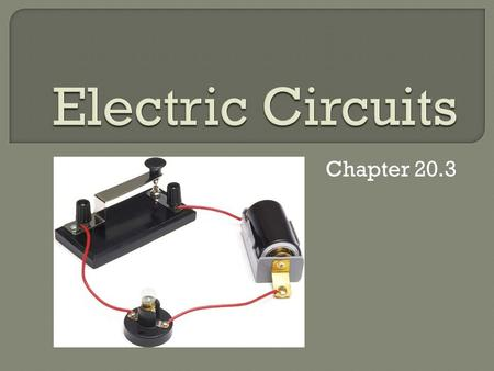 Electric Circuits Chapter 20.3.