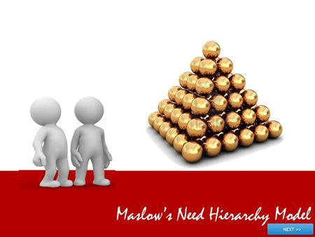 Maslow's Need Hierarchy Model