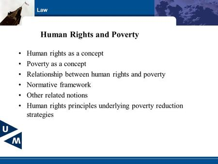 Human Rights and Poverty