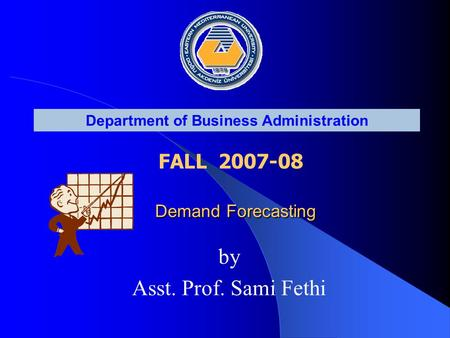© Stevenson, McGraw Hill, Assoc. Prof. Sami Fethi, EMU, All Right Reserved. Forecasting ...