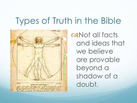 Types of Truth in the Bible